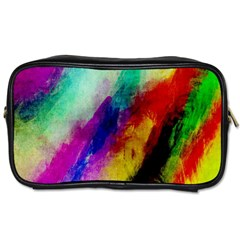Colorful Abstract Paint Splats Background Toiletries Bags 2 Side by Simbadda