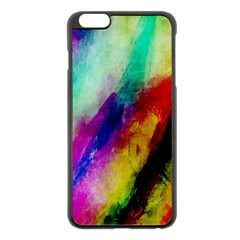 Colorful Abstract Paint Splats Background Apple Iphone 6 Plus/6s Plus Black Enamel Case by Simbadda