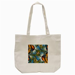 Random Fractal Background Image Tote Bag (cream) by Simbadda