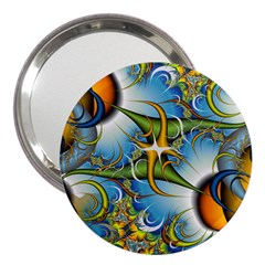 Random Fractal Background Image 3  Handbag Mirrors by Simbadda