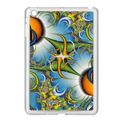 Random Fractal Background Image Apple Ipad Mini Case (white) by Simbadda