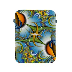 Random Fractal Background Image Apple Ipad 2/3/4 Protective Soft Cases by Simbadda