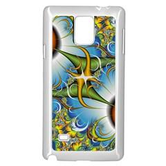 Random Fractal Background Image Samsung Galaxy Note 4 Case (white) by Simbadda