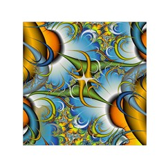 Random Fractal Background Image Small Satin Scarf (square) by Simbadda