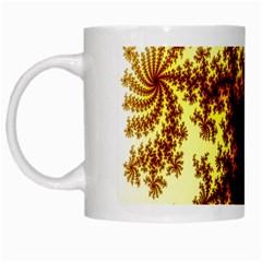 A Fractal Image White Mugs by Simbadda