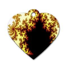 A Fractal Image Dog Tag Heart (one Side) by Simbadda