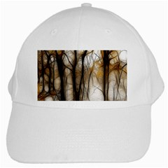 Fall Forest Artistic Background White Cap by Simbadda