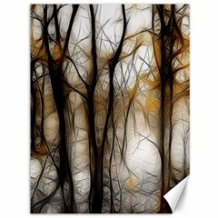 Fall Forest Artistic Background Canvas 36  X 48   by Simbadda