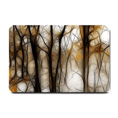 Fall Forest Artistic Background Small Doormat  by Simbadda