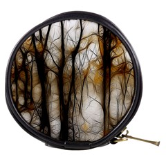 Fall Forest Artistic Background Mini Makeup Bags by Simbadda
