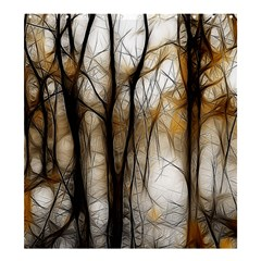 Fall Forest Artistic Background Shower Curtain 66  X 72  (large)  by Simbadda