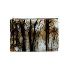 Fall Forest Artistic Background Cosmetic Bag (medium)  by Simbadda