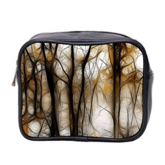 Fall Forest Artistic Background Mini Toiletries Bag 2 Side by Simbadda