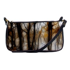 Fall Forest Artistic Background Shoulder Clutch Bags by Simbadda