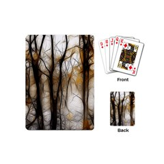 Fall Forest Artistic Background Playing Cards (mini)  by Simbadda
