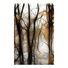 Fall Forest Artistic Background Shower Curtain 48  X 72  (small)  by Simbadda