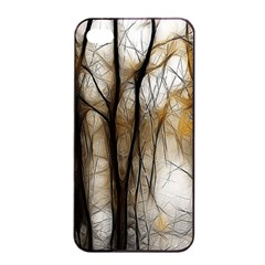 Fall Forest Artistic Background Apple Iphone 4/4s Seamless Case (black) by Simbadda