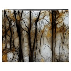 Fall Forest Artistic Background Cosmetic Bag (xxxl)  by Simbadda
