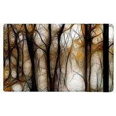 Fall Forest Artistic Background Apple Ipad 3/4 Flip Case by Simbadda