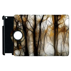 Fall Forest Artistic Background Apple Ipad 3/4 Flip 360 Case by Simbadda