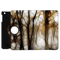Fall Forest Artistic Background Apple Ipad Mini Flip 360 Case by Simbadda