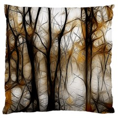 Fall Forest Artistic Background Large Flano Cushion Case (one Side) by Simbadda