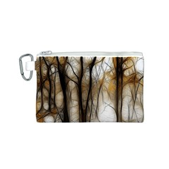 Fall Forest Artistic Background Canvas Cosmetic Bag (s) by Simbadda