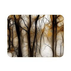 Fall Forest Artistic Background Double Sided Flano Blanket (mini)  by Simbadda