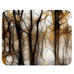 Fall Forest Artistic Background Double Sided Flano Blanket (medium)  by Simbadda