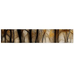 Fall Forest Artistic Background Flano Scarf (large) by Simbadda