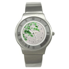 Plants Over Wall Stainless Steel Watch by dflcprints