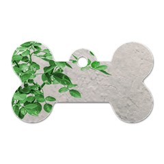 Plants Over Wall Dog Tag Bone (two Sides) by dflcprints