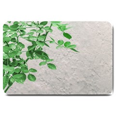 Plants Over Wall Large Doormat  by dflcprints