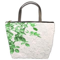 Plants Over Wall Bucket Bags by dflcprints
