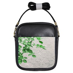 Plants Over Wall Girls Sling Bags by dflcprints