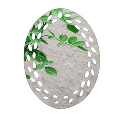 Plants Over Wall Oval Filigree Ornament (two Sides) by dflcprints