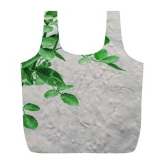 Plants Over Wall Full Print Recycle Bags (l)  by dflcprints