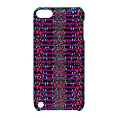 Raining Rain And Mermaid Shells Pop Art Apple Ipod Touch 5 Hardshell Case With Stand by pepitasart
