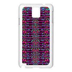 Raining Rain And Mermaid Shells Pop Art Samsung Galaxy Note 3 N9005 Case (white) by pepitasart