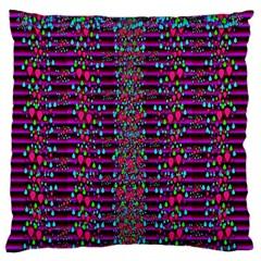 Raining Rain And Mermaid Shells Pop Art Large Flano Cushion Case (two Sides) by pepitasart