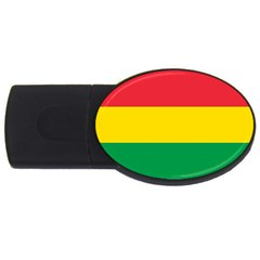 Rasta Colors Red Yellow Gld Green Stripes Pattern Ethiopia Usb Flash Drive Oval (2 Gb) by yoursparklingshop