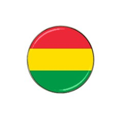 Rasta Colors Red Yellow Gld Green Stripes Pattern Ethiopia Hat Clip Ball Marker (4 Pack) by yoursparklingshop