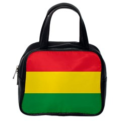 Rasta Colors Red Yellow Gld Green Stripes Pattern Ethiopia Classic Handbags (one Side) by yoursparklingshop