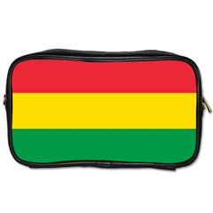 Rasta Colors Red Yellow Gld Green Stripes Pattern Ethiopia Toiletries Bags 2 Side by yoursparklingshop