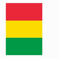 Rasta Colors Red Yellow Gld Green Stripes Pattern Ethiopia Large Garden Flag (two Sides) by yoursparklingshop