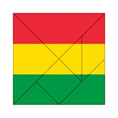 Rasta Colors Red Yellow Gld Green Stripes Pattern Ethiopia Acrylic Tangram Puzzle (6  X 6 ) by yoursparklingshop
