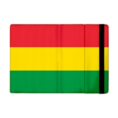 Rasta Colors Red Yellow Gld Green Stripes Pattern Ethiopia Apple Ipad Mini Flip Case by yoursparklingshop