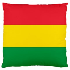 Rasta Colors Red Yellow Gld Green Stripes Pattern Ethiopia Standard Flano Cushion Case (one Side) by yoursparklingshop