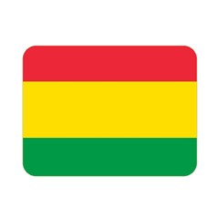 Rasta Colors Red Yellow Gld Green Stripes Pattern Ethiopia Double Sided Flano Blanket (mini)  by yoursparklingshop