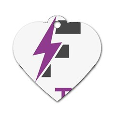 Original Logos 2017 Feb 5529 58abaecc49c40 (1) Dog Tag Heart (one Side) by FlashyThread